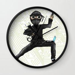 Cyber Ninja Wall Clock