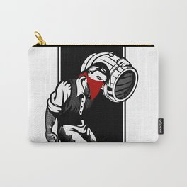 Thief illustration with wine cask Carry-All Pouch