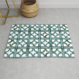 Breeze Block Ocean Rug