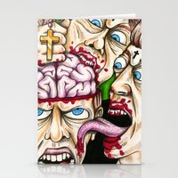 atheist Stationery Cards featuring Atheist Eaters II by Adam Bright
