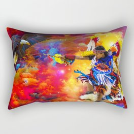 Dance with eagle Rectangular Pillow