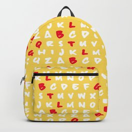 Abc's yellow Backpack