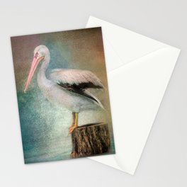 Perched Pelican Stationery Cards