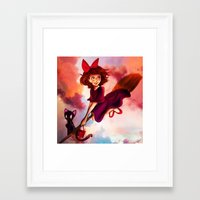 kiki Framed Art Prints featuring Kiki by Beejutsu