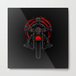 Night Rider Metal Print