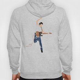 Typography Art of Boss of the Rock Bruce Frederick Springsteen Hoody