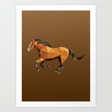 Geometric Horse Art Print