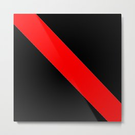 Oblique red and black Metal Print