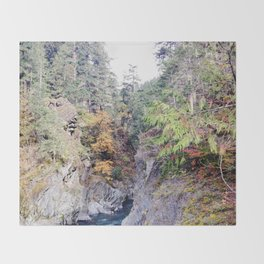 Elwha River - Olympic National Park Throw Blanket