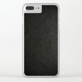 The Black leather Clear iPhone Case