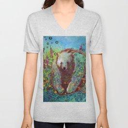 Fireweed Bear Unisex V-Neck