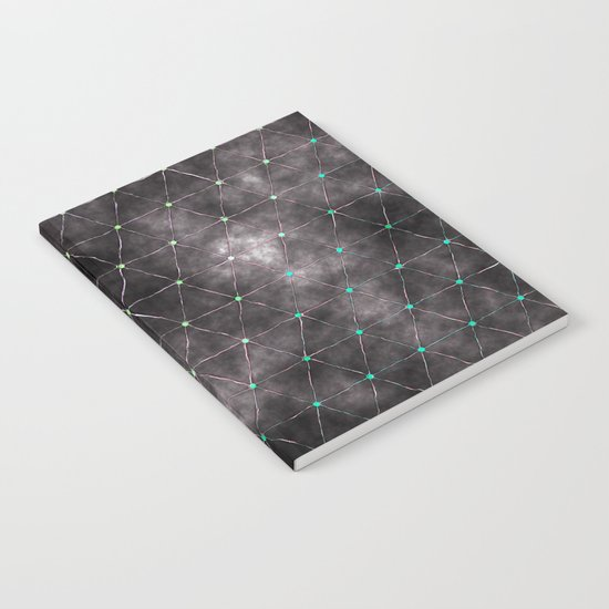 Galaxy - modern abstract dark grunge triangles pattern Notebook