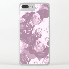 Rose bouquet - beautiful roses from rose garden - vintage style Clear iPhone Case