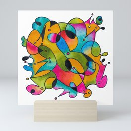 Abstract Gradient Critters Mini Art Print