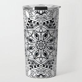 Project 290   Black and White Mandala Travel Mug