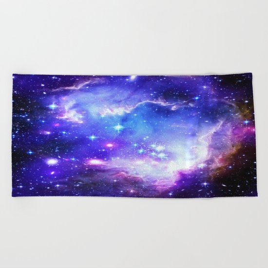 Galaxy Blue Beach Towel