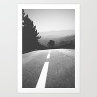 road Art Prints featuring road by Ingrid Beddoes