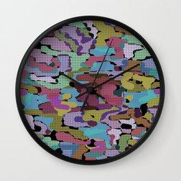 Bright modern youth pattern 3 Wall Clock
