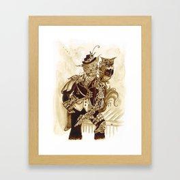 Sir Whiskerfur and Lieutenant Colonel Beaker Framed Art Print