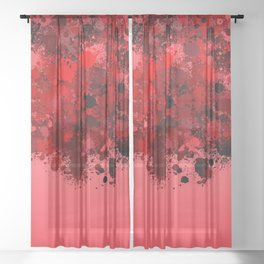 paint splatter on gradient pattern dr Sheer Curtain