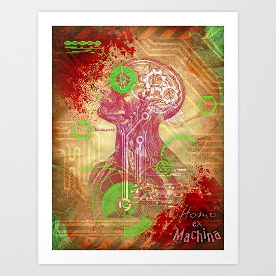 """The """"Homo ex Machina"""" concept! Art Print"""