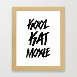 Kool Kat Energy Framed Art Print