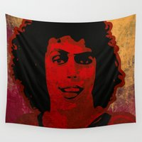 1975 Wall Tapestries featuring The Rocky Horror Picture Show by Rabassa