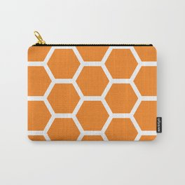 Orange Honeycomb Carry-All Pouch