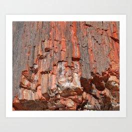 Agathe Log Texture Art Print
