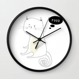 Hungry Cat Wall Clock