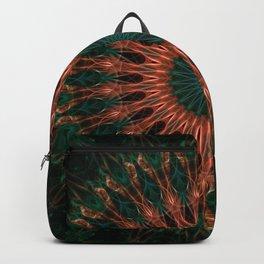 Mandala in red and brown tones Backpack