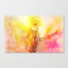 The Girl with the Sun in Her Hair - Summer Bloom Canvas Print