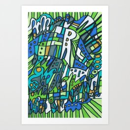 Feel This Real Forever (green) Art Print