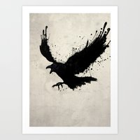 raven Art Prints featuring Raven by Nicklas Gustafsson
