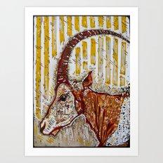 Sable Antelope Art Print