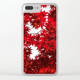 RED China Clear iPhone Case