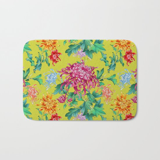 Oriental Flowers Bath Mat