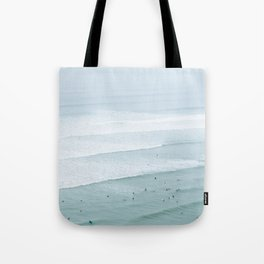 Tiny Surfers from the Sky 3, Lima, Peru Tote Bag