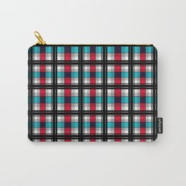Blue , red , black plaid Carry-All Pouch