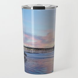Dory Sunset Newport Beach Pier Travel Mug