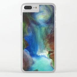 The Kissing Cave Clear iPhone Case