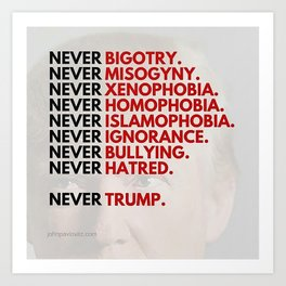 Never Trump - Political Art Print