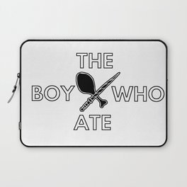 The Boy Who Ate - Wand and Chicken Crest Laptop Sleeve