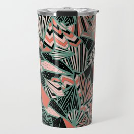 Paperfolds in 50's Pop Colourway  Overall Pattern Travel Mug