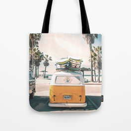 Surf Van Venice Beach California Tote Bag