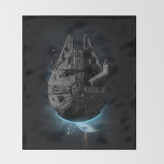 Stealth Falcon Throw Blanket