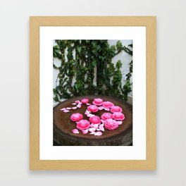 Floral bath Framed Art Print