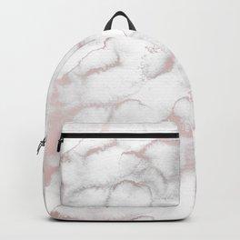 Rose Gold Pink & Grey Marble Backpack