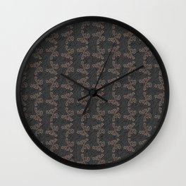 Coqui Taino Pattern Wall Clock