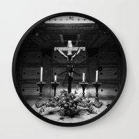 jesus Wall Clocks featuring Jesus by Mauro Squiz Daviddi